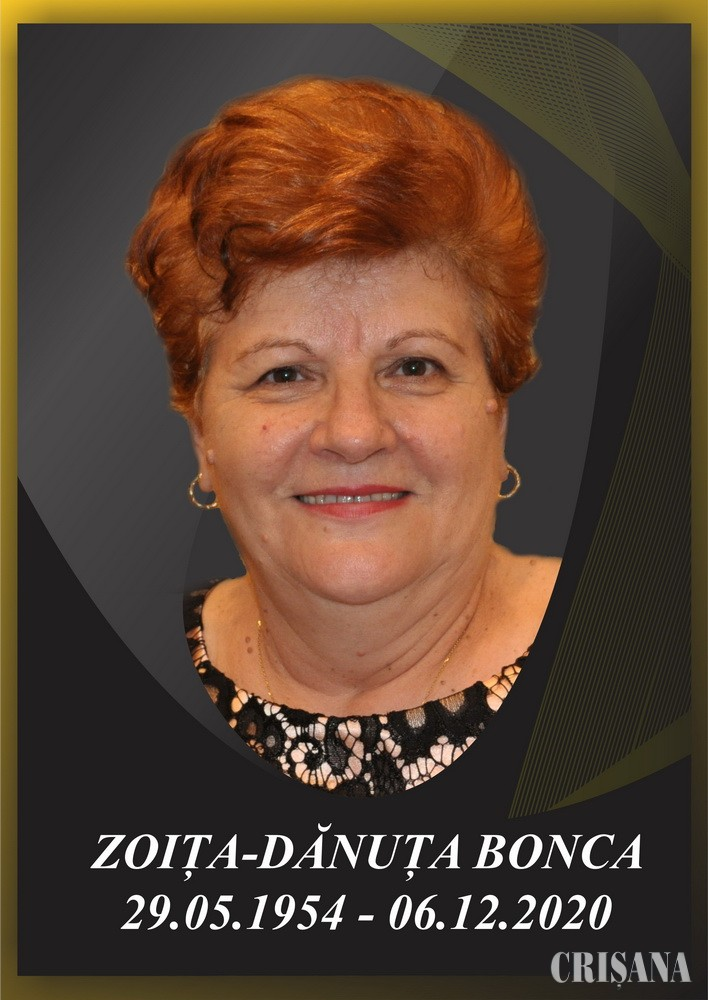 Profesoara Dănuța-Zoița Bonca a plecat la îngeri – Rămas bun, Om frumos!